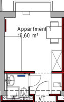 Apartment-Grundriss